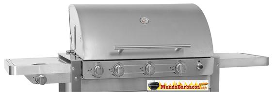 Barbacoa de Gas Barbecook Brahma 5.2 Inox con rustidor