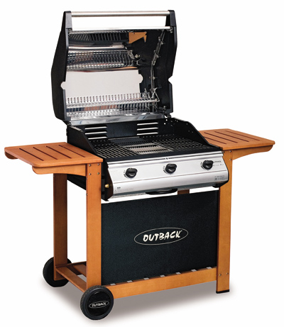 Barbacoa de Gas Outback Hunter 3 Inoxidable