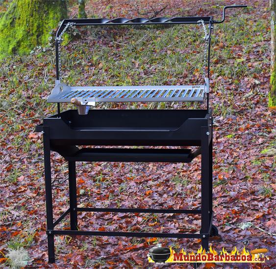 Barbacoa de hierro decapado y parrilla de acero inox Baluja Soar Plus 720 BH