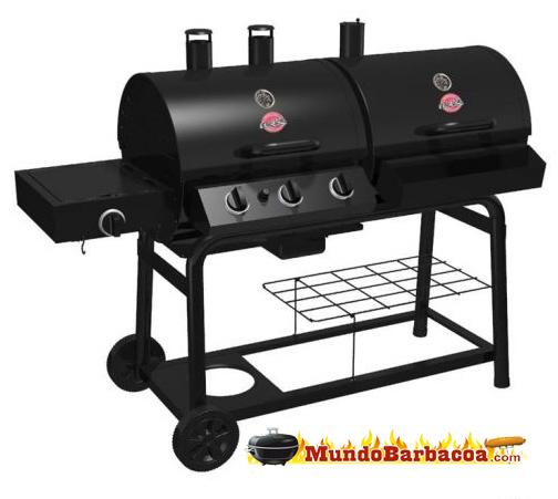 Barbacoa de gas y de carbón dos en uno DUO de Chargriller BAR5050