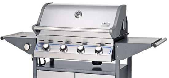 Barbacoa de Gas Cadac Entertainer Supreme 4 con quemador lateral