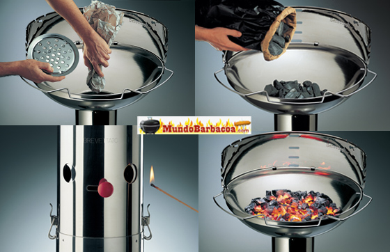 Sistema de encendido Quick Start de Barbecook