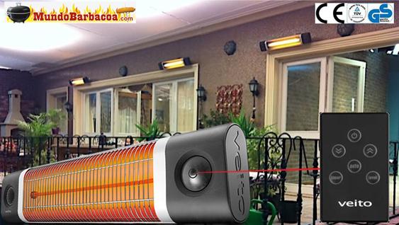 Calefactor de rayos infrarojos de pared de la marca Veito