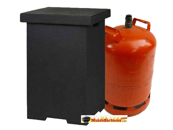Mesa para cubrir o esconder bombonas de gas de estufas de exterior Termigo ACCFR